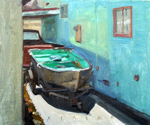 boat in alley